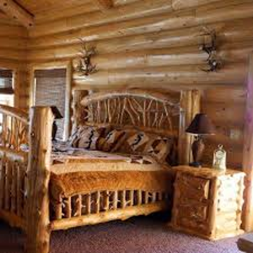 Picture of Log Bedframe